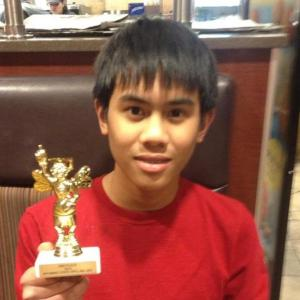 Dean Morgan eighth grader, Michael Millan takes 2nd in State Spelling Bee. (photo courtesy: Teresa Jimenex-Millan)