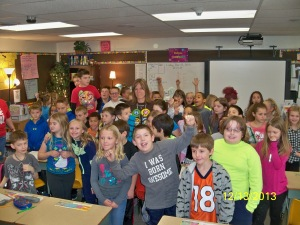 Manor Heights' 3rd grade raises money to buy gifts for others.