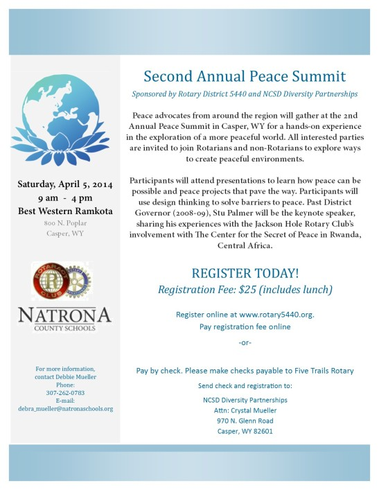 Peace Summit 2014 - Flyer0