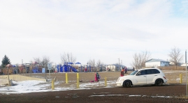 Parents can drop off their kids right onto the playground. ©Natrona County School District