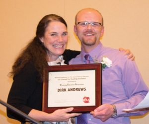 Three NCSD educators recently honored by the Wyoming Education Association