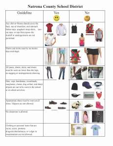 Dress Code Guidelines 5-7-15